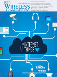 IEEE Wireless Communications: Special Issue on IoT, October 2016