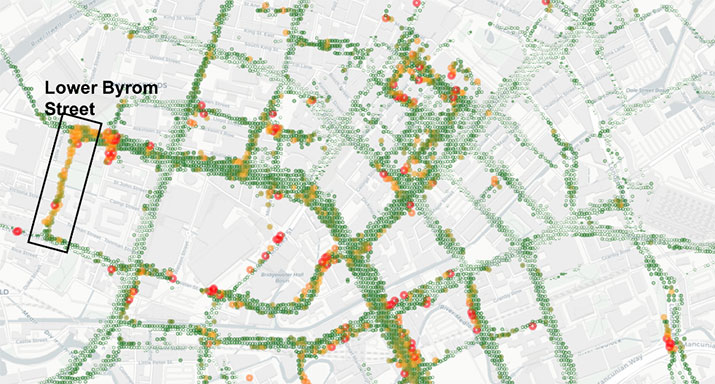 Figure 1: Road surface quality data.
